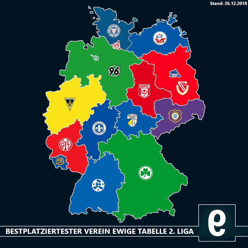 Landkarte Ewige Tabelle Der 2 Bundesliga Die Falsche 9
