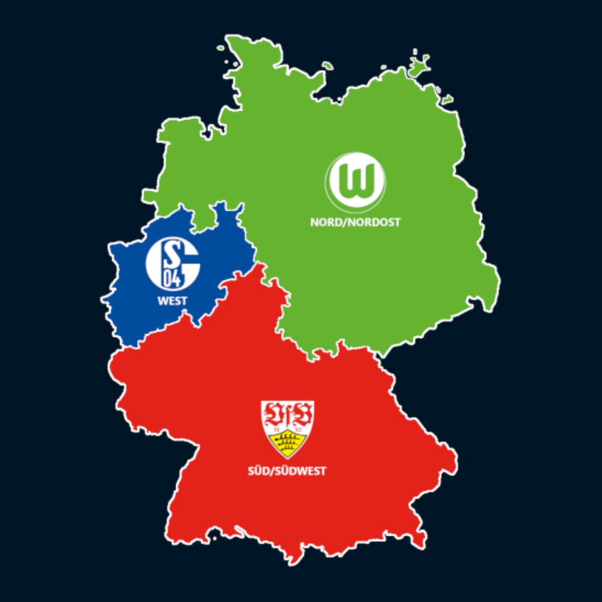 Landkarte: Meister A-Junioren Bundesliga