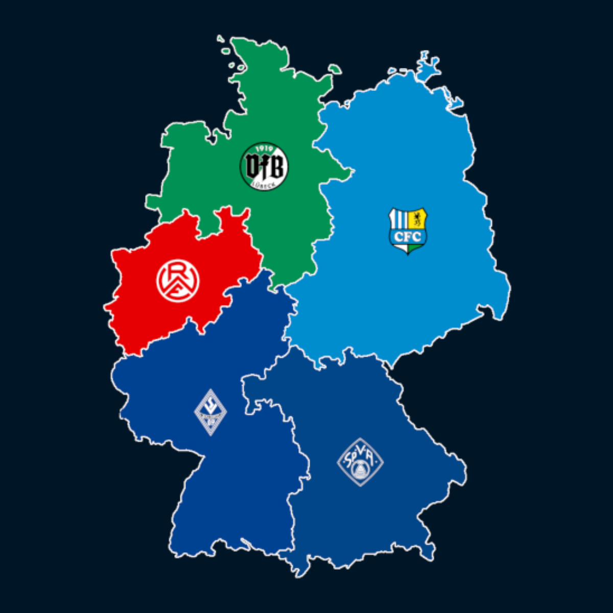 Landkarte: Regionalligen-Zuschauerschnitt