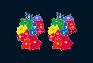 Landkarten: Meiste Zuschauer und Auswärtsfahrer 2018/19