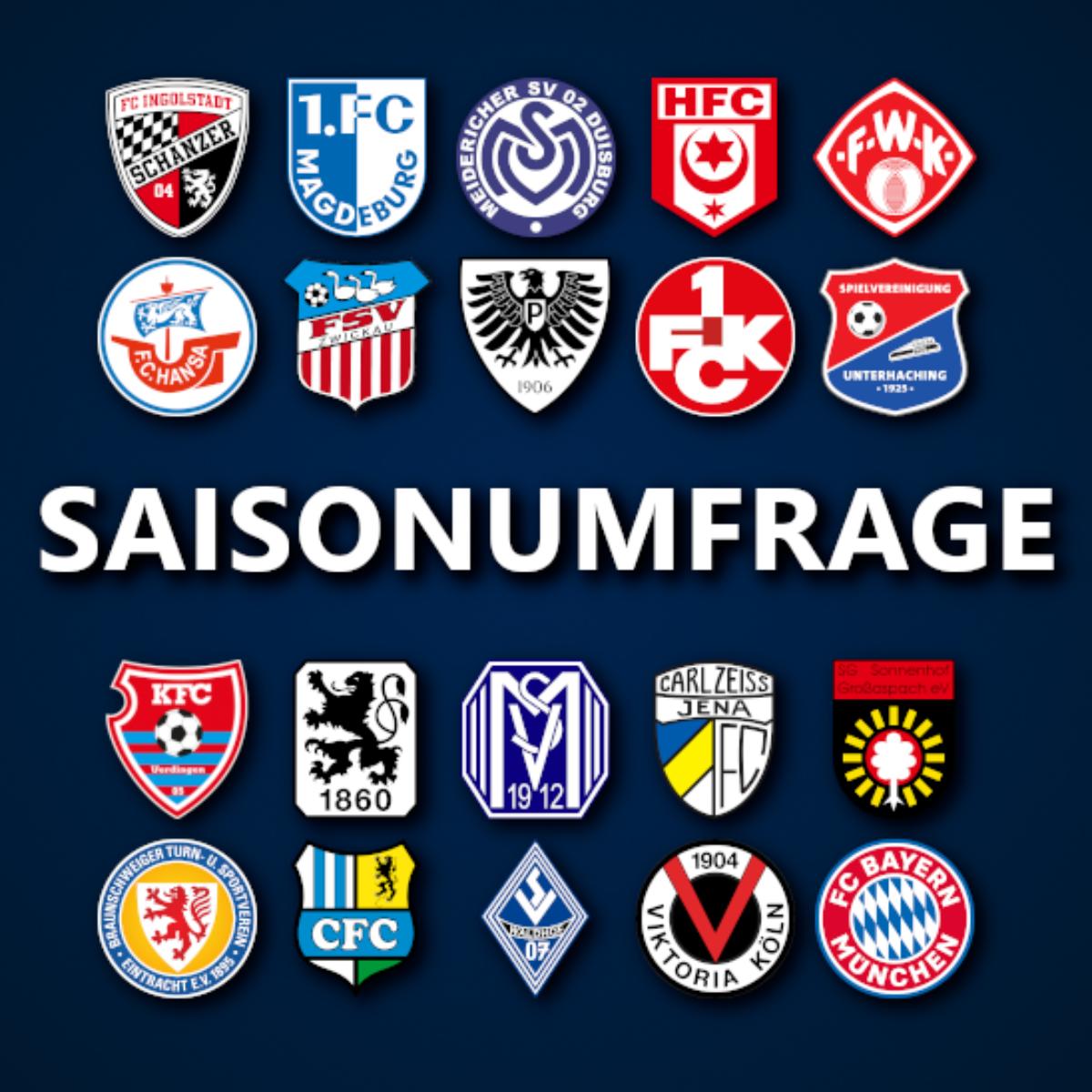 Saisonumfrage zur 3. Liga