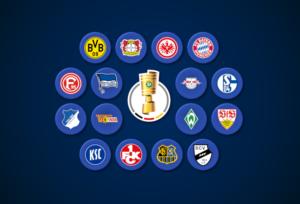 "Probeauslosung des DFB-Pokal-Achtelfinale: ""diefalsche9-DFB-Pokal"""