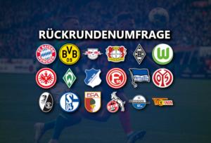 Rückrundenumfrage zur 1. Bundesliga