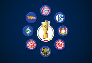 """Probeauslosung des DFB-Pokal-Viertelfinale: """"diefalsche9-DFB-Pokal"""""""