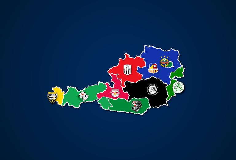 Österreich: Vereine mit den meisten Zuschauern nach Bundesländern