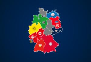 Landkarte: Ewige Tabelle der Bundesliga