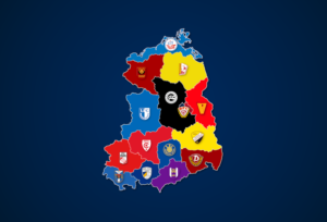 Landkarte: Ewige Tabelle der DDR-Oberliga