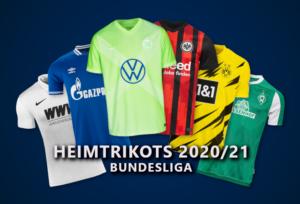 Heimtrikots der Bundesligisten 2020/21