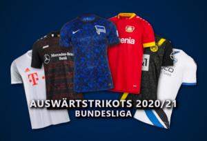 Auswärtstrikots der Bundesligisten 2020/21