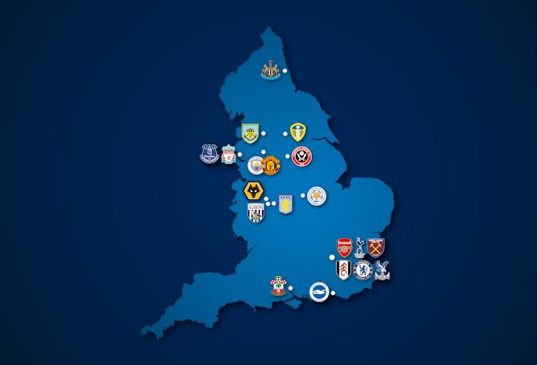 Landkarte: Premier League 2020/21