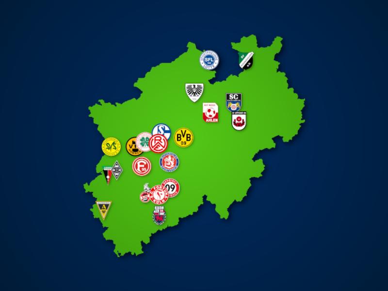 Landkarte: Regionalliga West 2020/21