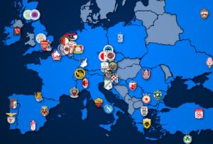 Landkarte: Europa League Teilnehmer 2020/21