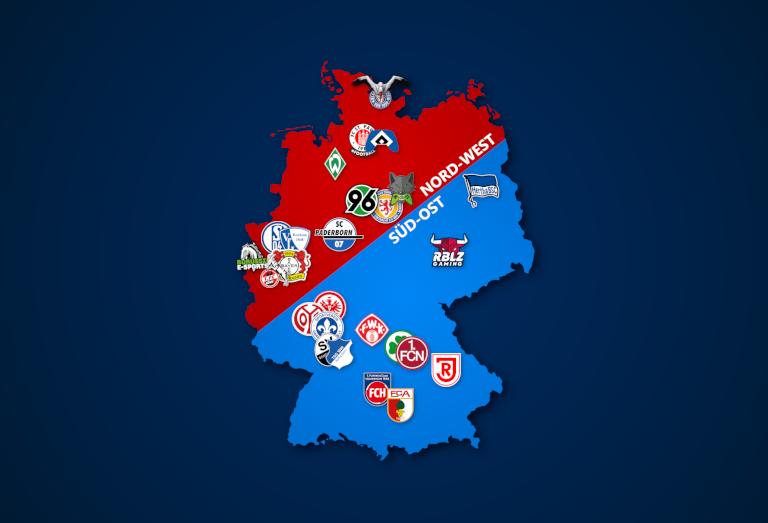 Klubs der Virtual Bundesliga 2020/21