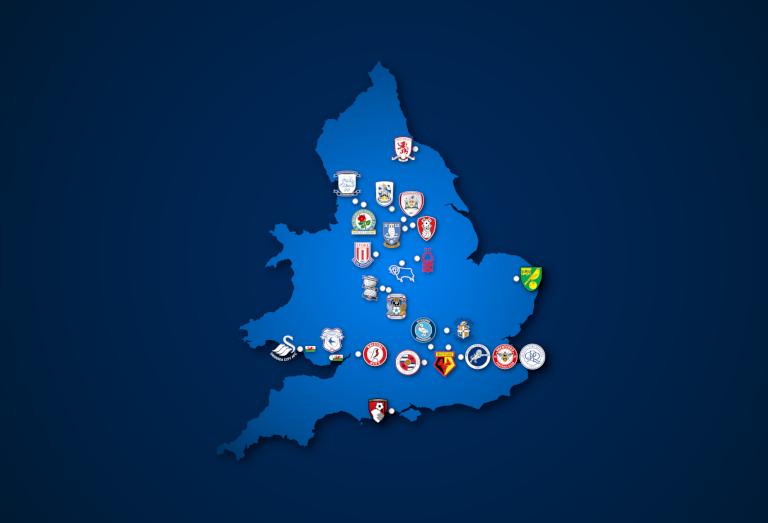 Landkarte: Championship 2020/21