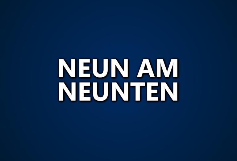 NEUN AM NEUNTEN: Jetzt den Verein für die September-Ausgabe wählen