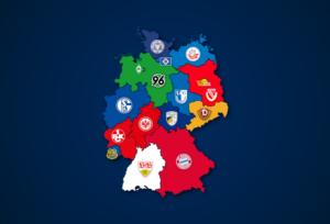 Landkarte: Vereine mit den meisten Mitgliedern