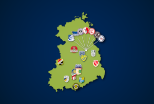 Landkarte: Regionalliga Nordost 2021/22