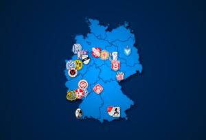 Landkarte: 3. Liga 2021/22