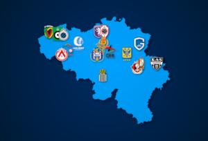 Landkarte: Belgische Jupiler Pro League 2021/22