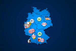 Landkarte: 1. Bundesliga 2021/22
