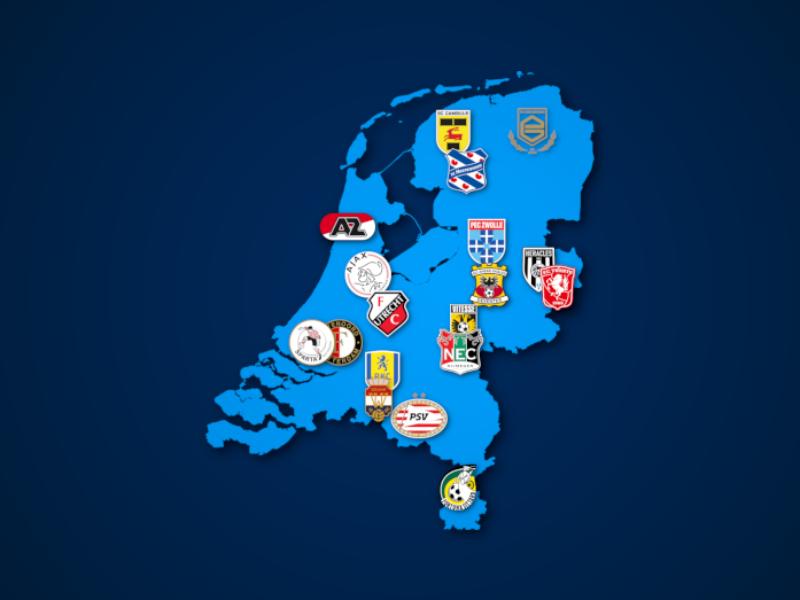 Landkarte: Eredivisie 2021/22