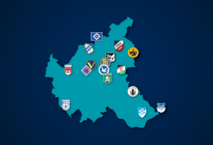 Landkarte: Oberliga Hamburg 2021/22