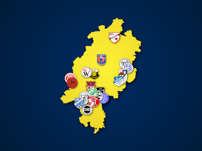 Landkarte: Hessenliga 2021/22
