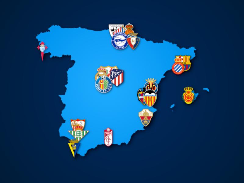 Landkarte: La Liga 2021/22