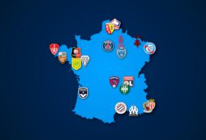 Landkarte: Ligue 1 2021/22