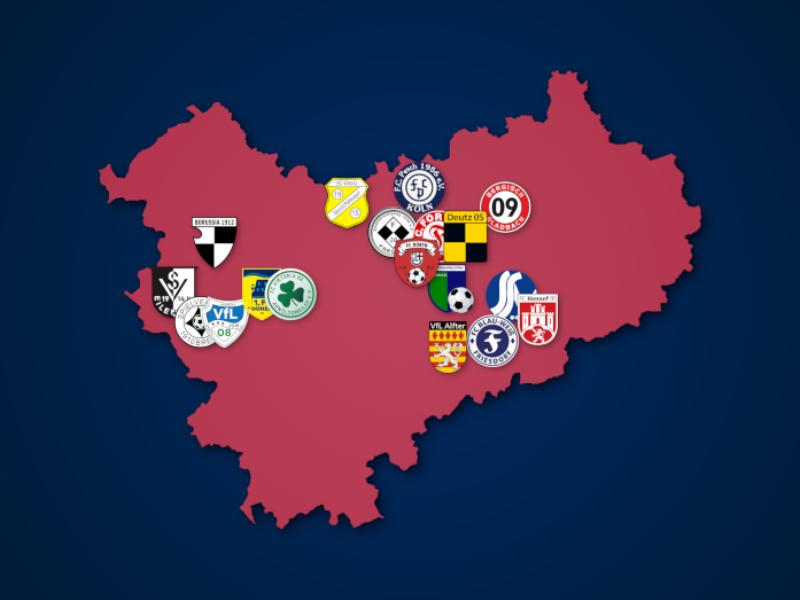 Landkarte: Oberliga Mittelrhein 2021/22