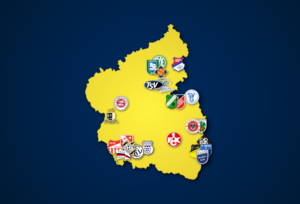 Landkarte: Oberliga Rheinland-Pfalz/Saar 2021/22