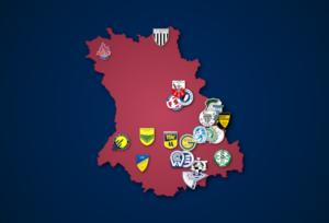 Landkarte: Oberliga Niederrhein 2021/22