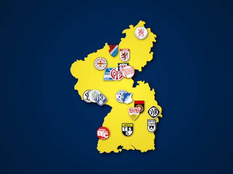 Landkarte: Regionalliga Südwest 2021/22