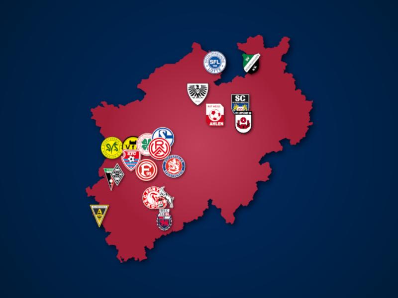 Landkarte: Regionalliga West 2021/22
