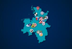 Landkarte: Regionalliga Nord 2021/22