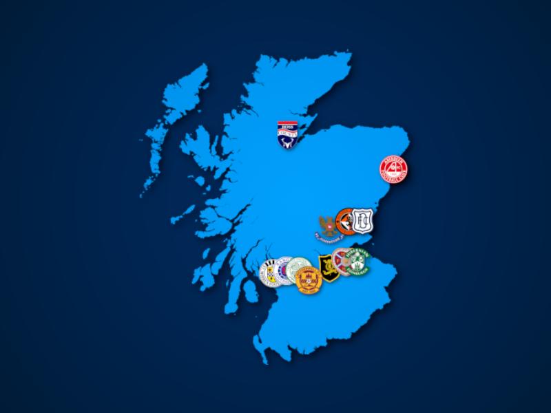 Landkarte: Scottish Premiership 2021/22