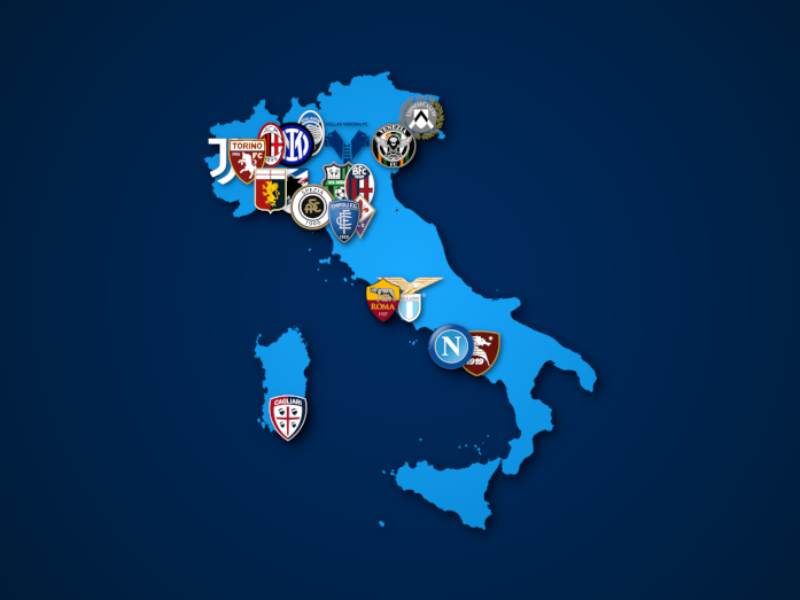 Landkarte: Serie A 2021/22