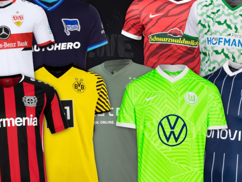 Heim- und Auswärtstrikots der Bundesligisten 2021/22