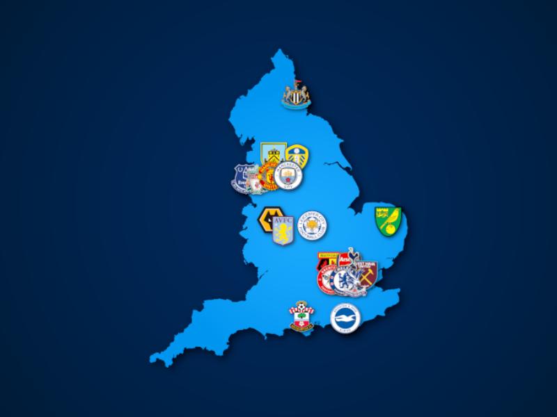 Landkarte: Premier League 2021/22