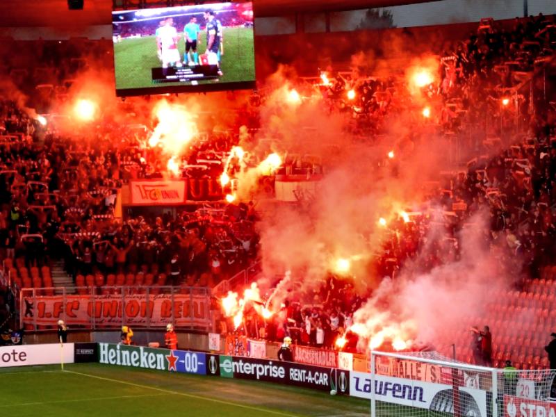 Europapokal: Zuschauer und Auswärtsfahrer am 1. Spieltag
